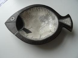 'Fish' ceramic, raku