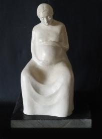 Pregnant woman sculpture