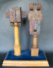 Charles and Camilla, metal sculpture