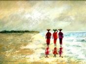 Gambian women on beach