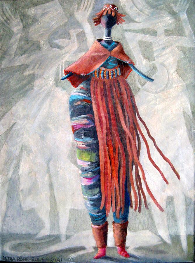 Herero doll painting