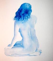 Blue Back - Watercolour