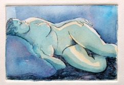 Blue Woman - Acrylic (sold)