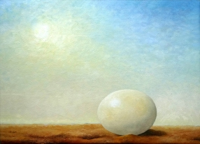 painting of Ostrich Egg