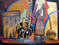 Stillife of African Instruments