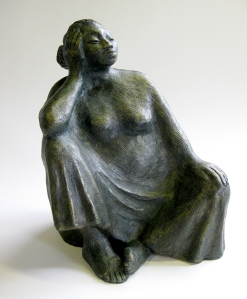 ceramic of sitting woman