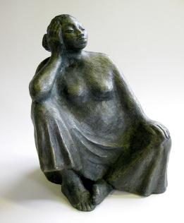 ceramic of sitting woman