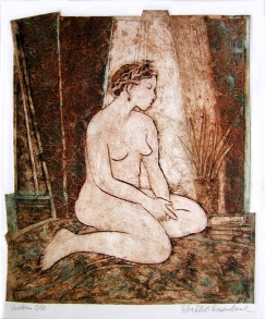 Dina - Collograph (sold)