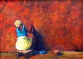 Painting The Red Wall (sold)