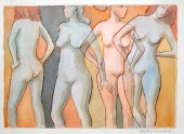 Four Women - Etching