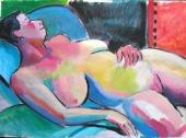 Gillian Lying - Acrylic