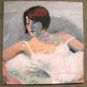 Holly In Nightie - Acrylic