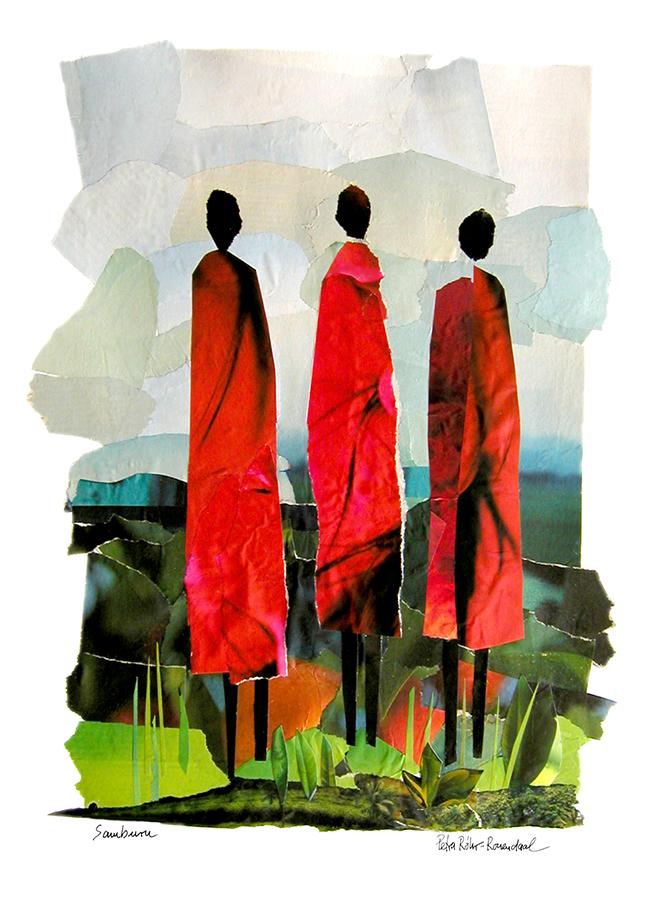 Collage of 3 Samburu women