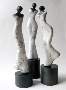 Three Sisters - Raku (sold)