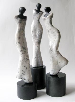 Three Sisters - Raku (sold)