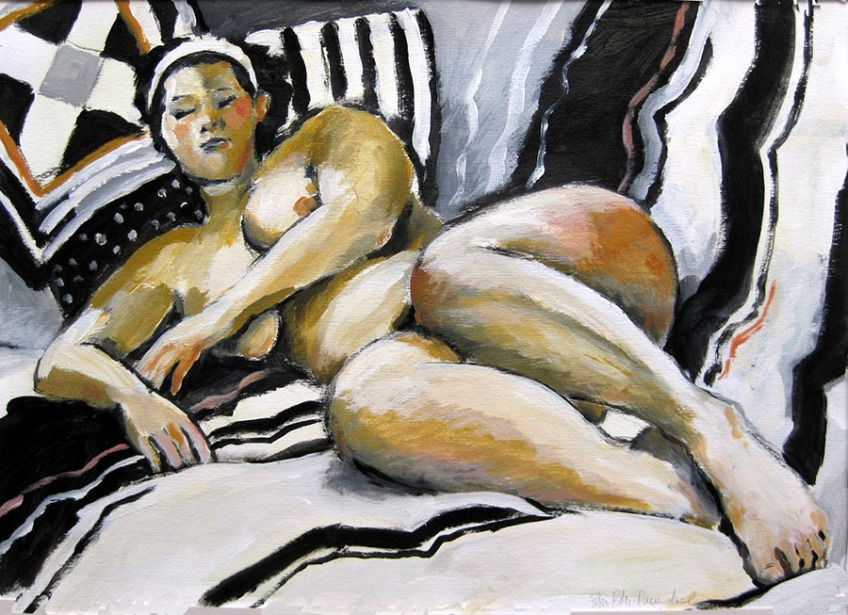 life drawing of woman