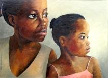Zimbabwean Sisters painting