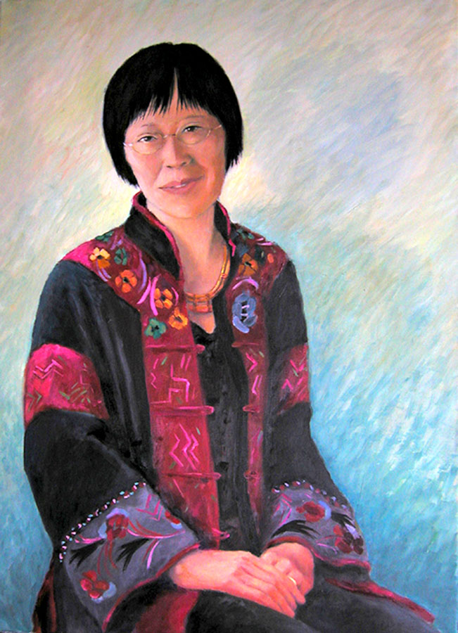 painting of Chinese woman