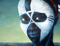 painting of young woman from the Omo region Ethiopia
