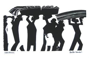 South Africans silkscreen print