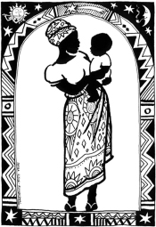 Mother And Child -Christmas Card