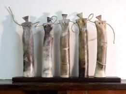 5 Women sculpture, smokefired