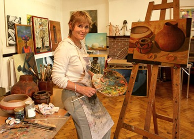 Petra in her studio