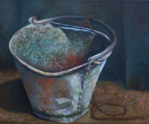 Bucket, oil on canvas