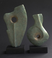 Abstract man and woman, ceramic