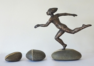 Stepping Stones, bronze resin, edition of 9
