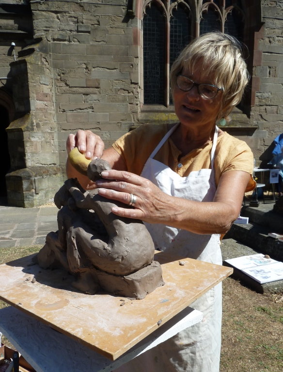 Petra in Moseley sculpture demo