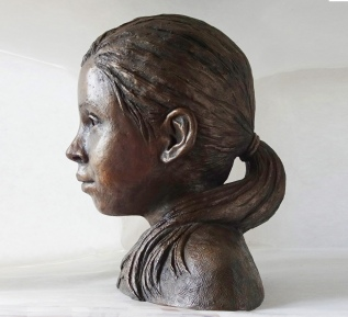 Francesca, bronze resin (sold)