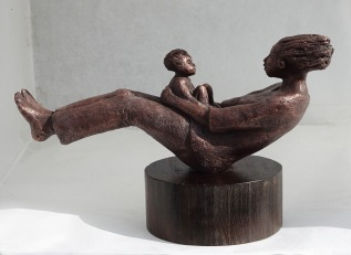 Rockabye Baby, bronze (edition of 15)resin